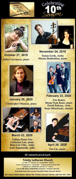 Trinity Lutheran Church Concert Series 2019-2020