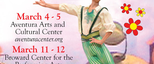 The enchanting ballet Chipollino to entertain adults and children alike! Mar 4-5, Aventura and Mar 11-12, Ft. Lauderdale