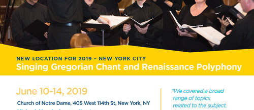 chant, choral, New York City, early music, vocal, workshop