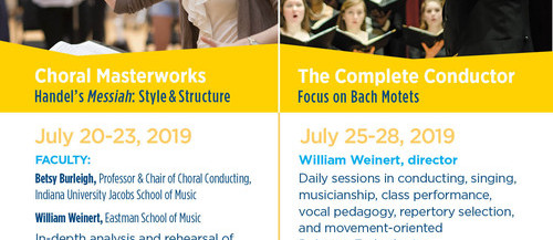 choral conducting, Handel, Bach, workshops