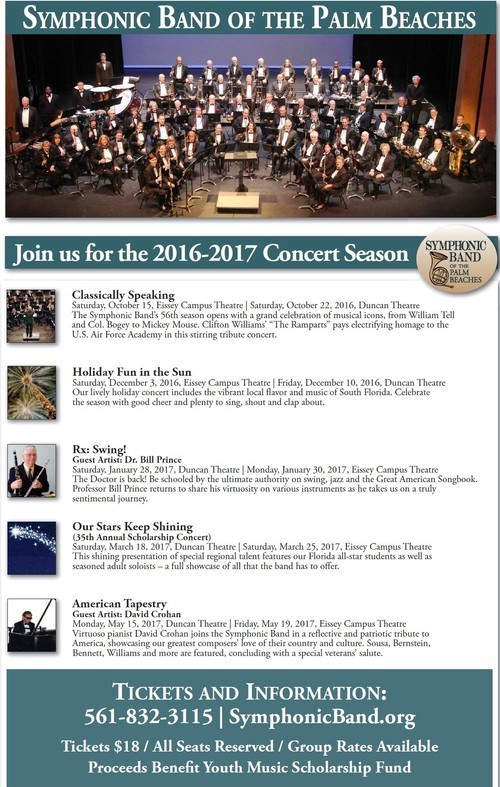 Symphonic Band of the Palm Beaches 2016-17 Season