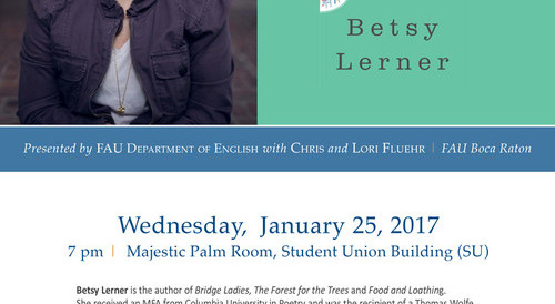 Betsy Lerner, Off the Page, FAU, English Department, MFA, Creative Writing, literary agent, lecture, free
