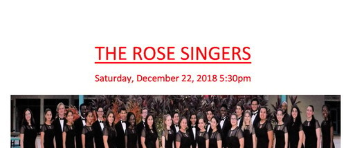 Christmas Concert featuring  The Rose Singers