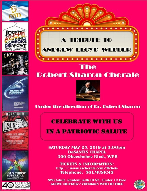 The Robert Sharon Chorale pays tribute to Andrew Lloyd Webber