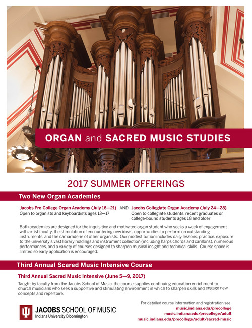 Organ and Sacred Music Studies