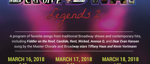 Master Chorale of South Florida, Broadway Legends 2