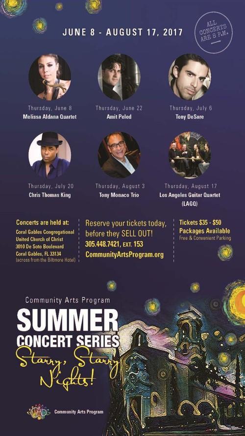 32nd Community Arts Program (CAP) Summer Concert Series! June 8 thru August 17