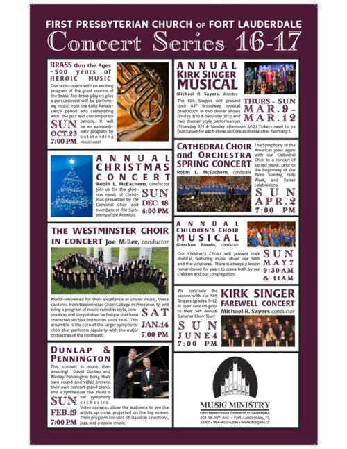 First Presbyterian Church of Fort Lauderdale Announces  
