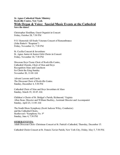 St. Agnes Cathedral Music Ministry