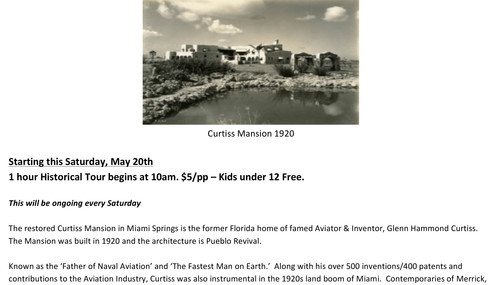Historical Tours, Curtiss Mansion Historical Tours