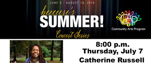 Community Arts Program Summer Concert Series presents GRAMMY Award Winner Catherine Russell, July 7, 8pm, Coral Gables Congregational Church, Coral Gables