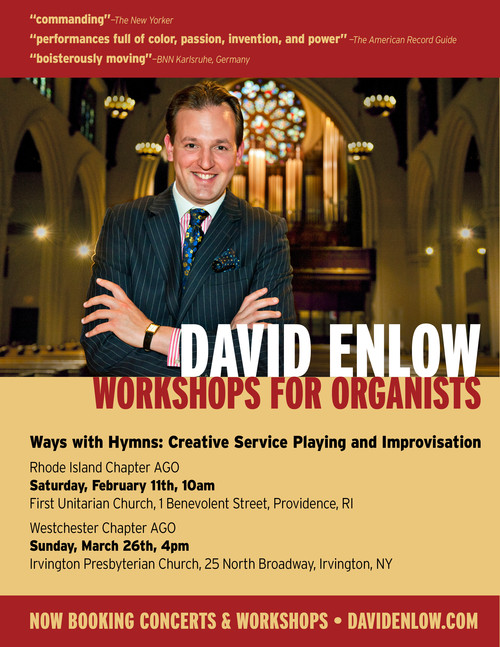 David Enlow - Workshops for Organists