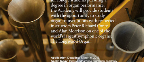 The Longwood Organ Academy - Summer program for organ students. Train with the respected Peter Richard Conte and Allan Morrison