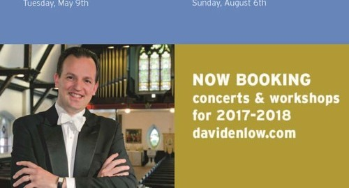 David Enlow,organist 2017 Engagements