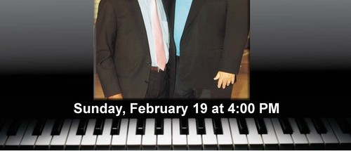 Dueling Keyboards February 19, 4pm First Presbyterian Church of Pompano Beach
