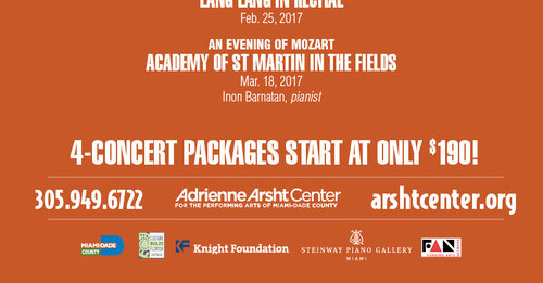 Subscribers Get the Best Seats Knight Masterworks Classical Music Adrienne Arsht Center 4-Concert Packages start at only $190 - Miami