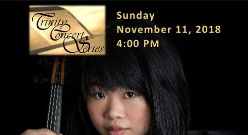 Gabrielle Chou performing on piano and violin, trinity concert series, ft. lauderdale