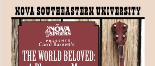 Nova Singers presents The World Beloved: A Bluegrass Mass - Enjoy an evening of spiritual and patriotic hymns and songs, May 18, Trinity Concert Series, Ft. Lauderdale