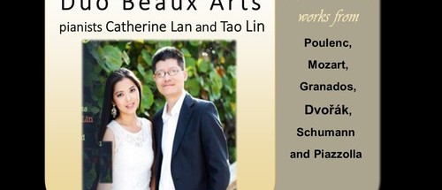 Duo Beaux Arts, pianists Catherine Lan and Tao Lin, will be performing classical favorites at Trinity Concert Series. Sunday, October 23, 4pm