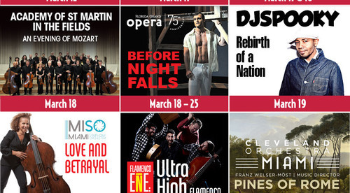 March & Beyond at the Arsht Center, dance, cello, piano, vocal, theater