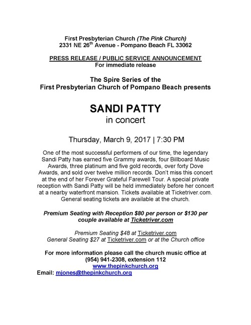 Sandi Patty in concert