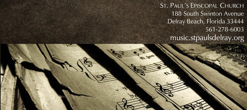 Music at St. Paul's Delray Beach 2016-2017 Concert Season