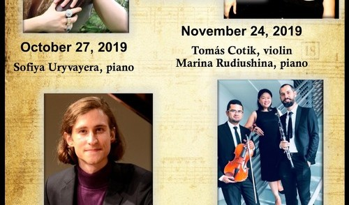 Trinity Concert Series Celebrating 10th Season Sofiya Uryvayera, Tomás Cotik and Marina Rudiushina, Christopher Ohanian, Trio Roden, Tallinn Piano Trio and T