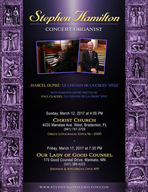 Stephen Hamilton, Concert Organist