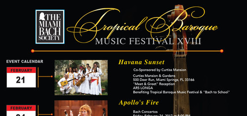 Tropical Baroque Music Festival XVIII Feb 21 - Mar 5