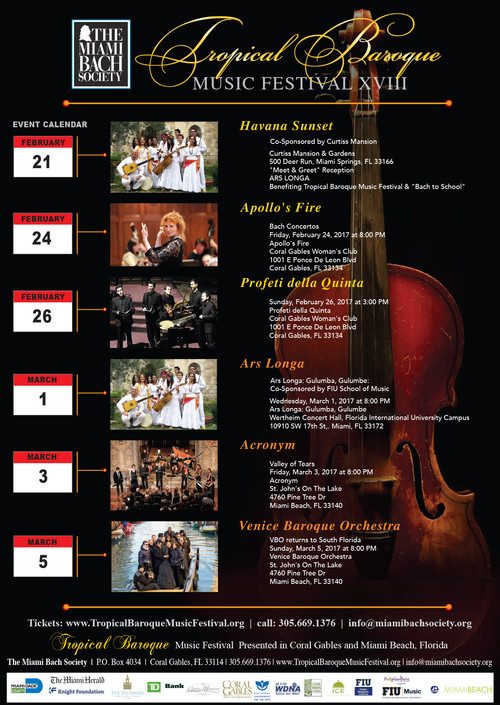 Tropical Baroque Music Festival XVIII