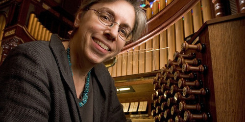 Gail Archer, woman, female, organist, organ recital, Wyoming