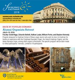 Eastman School of Music  Organists Retreet