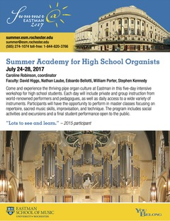 Eastman Summer Organ Academy