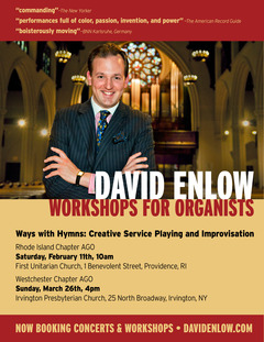 David Enlow Workshops for Organists