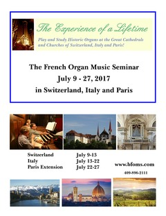 French Organ Music Seminar