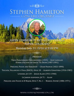 Stephen Hamilton in Aspen Colorado July